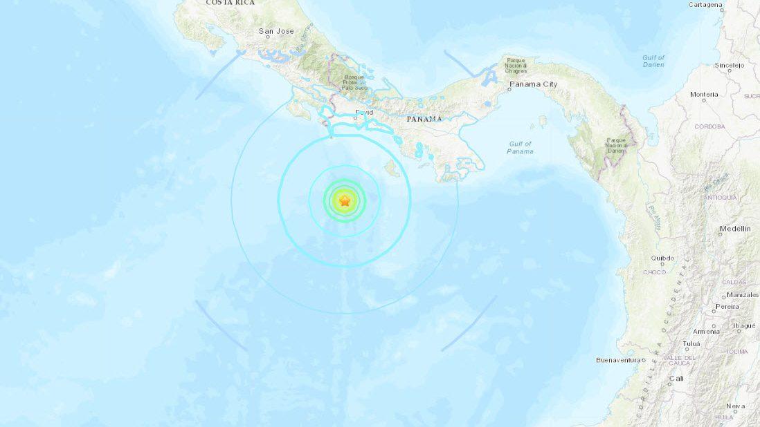 Sismo de magnitud 6,1 al sur de Panamá