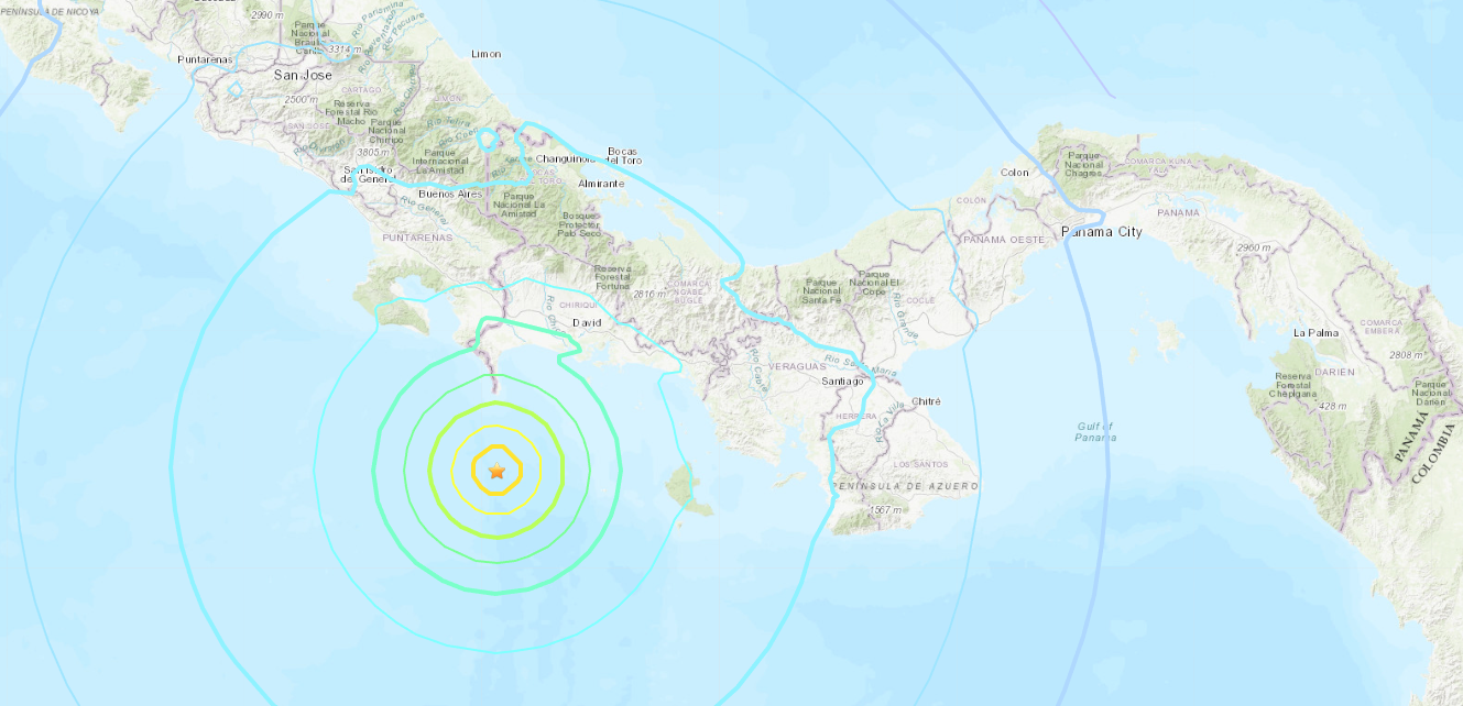 Sismo de magnitud 6,8 sacude costa occidental del Pacífico en Panamá