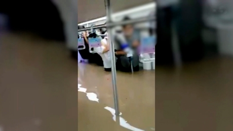 Metro China inundaciones