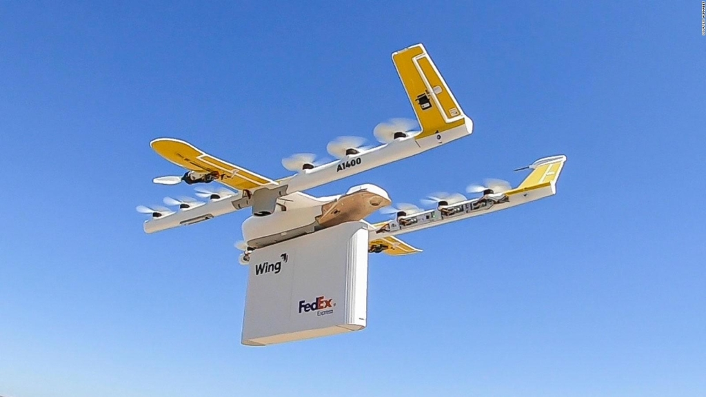 This city leads the delivery by drones