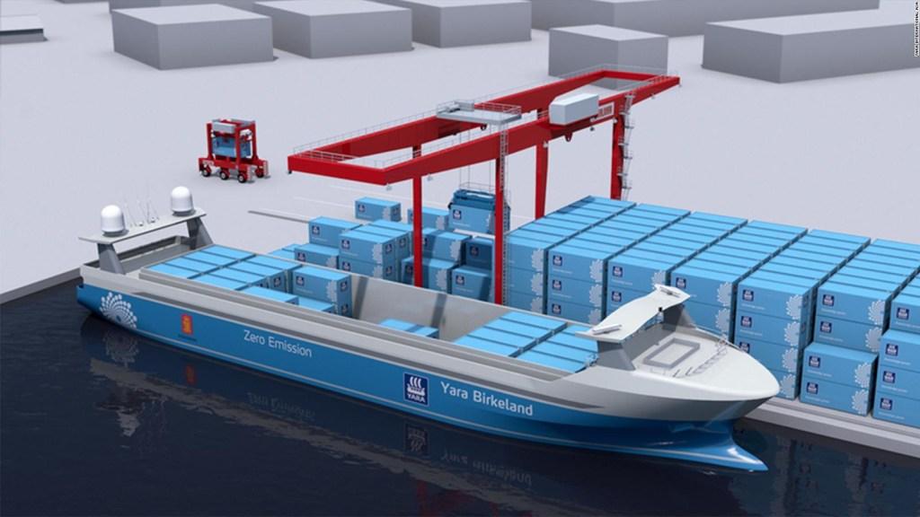 See the world's first zero-emission, autonomous cargo ship