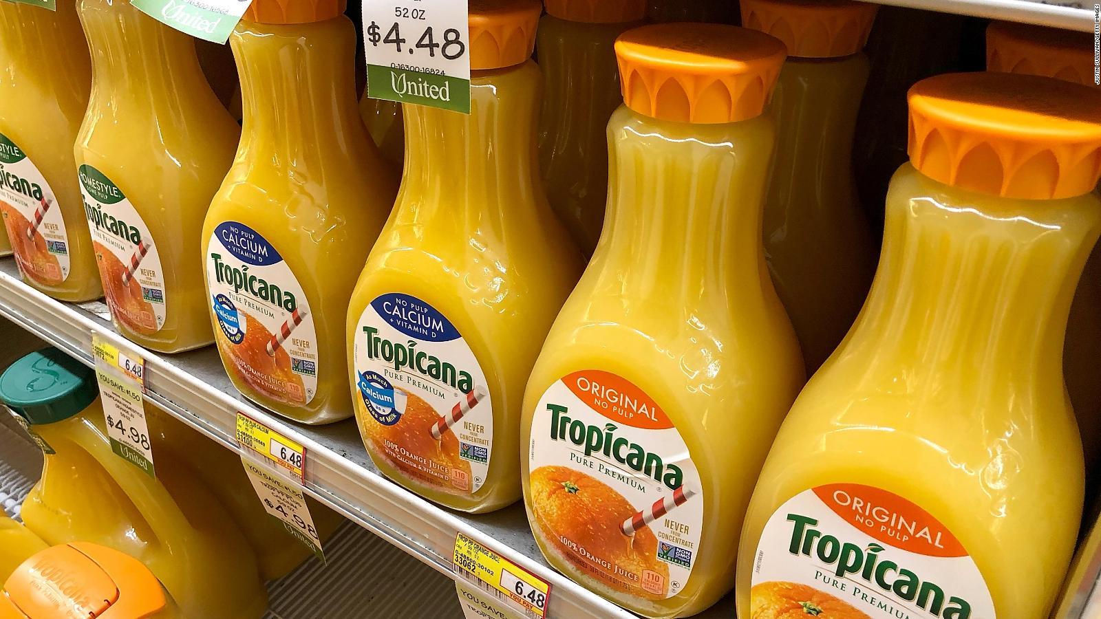 PepsiCo anuncia venta de sus marcas de jugo Tropicana y Naked
