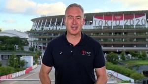 Periodista en Tokio 2020 reportó en vivo durante sismo