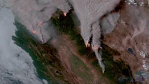 La voracidad del fuego en California se ve desde el espacio