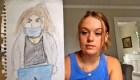 Desconocido la dibujó en un aeropuerto y se volvió viral
