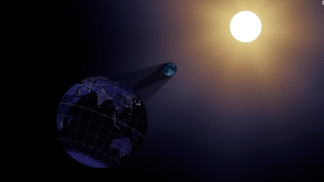 Así se ve un eclipse de sol desde el espacio