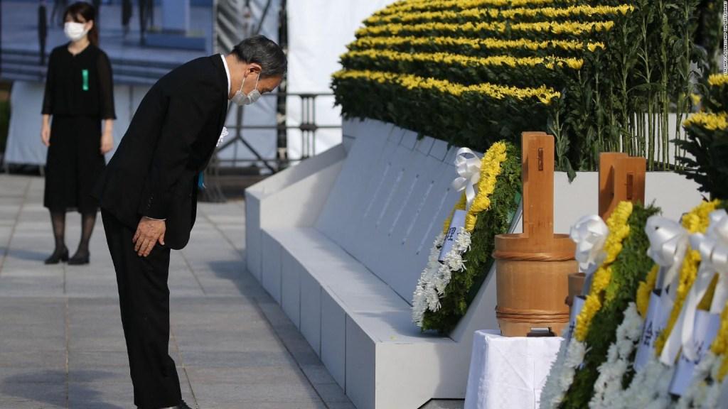 Yoshihide Suga omite parte de discurso sobre Hiroshima