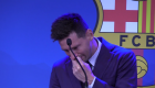 Messi rompe en llanto en su despedida del Barcelona