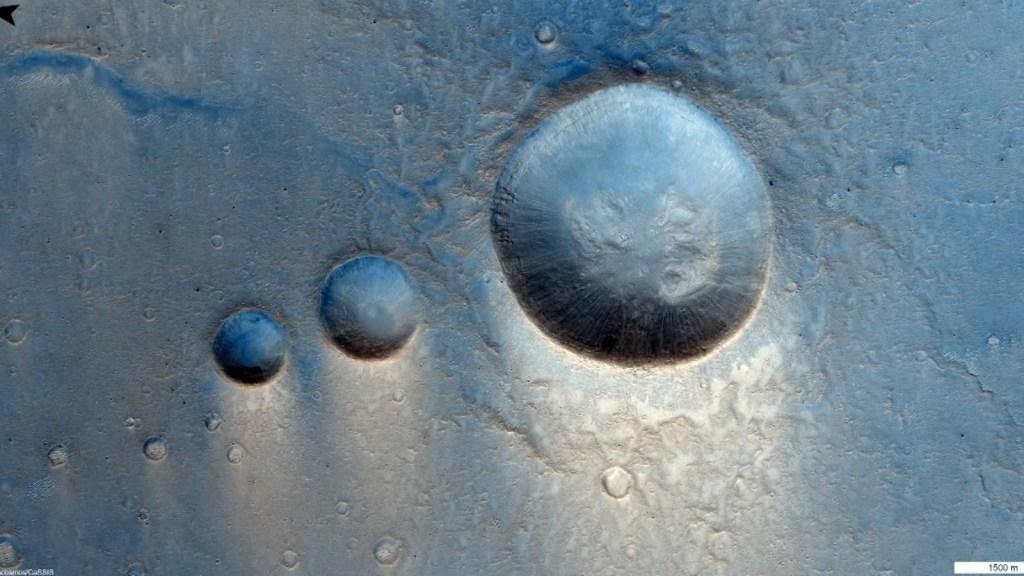 Registro de la actividad volcánica en Marte