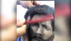 Mira este dibujo de Messi en un corte de pelo