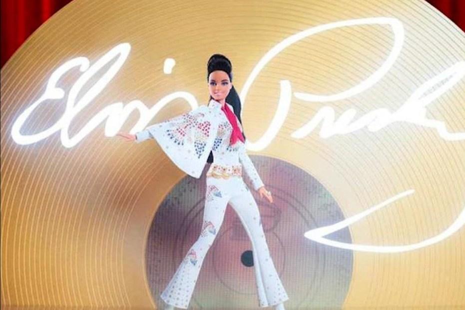 Barbie rinde homenaje al rey del rock and roll