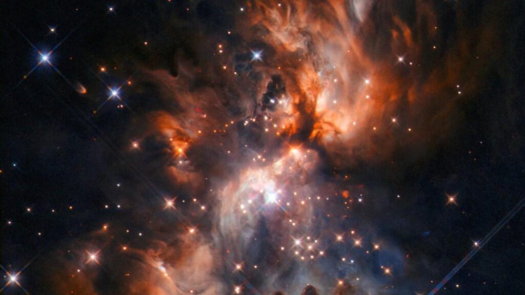 Así se ve un vivero de estrellas en el espacio