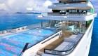 Mira este superyate con diseño de un hotel de lujo