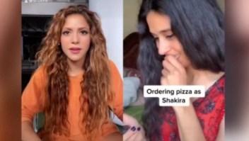 Shakira reacciona a una imitadora suya que ordena pizza