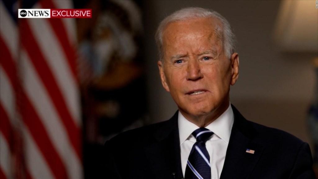 Lo que dijo Biden sobre el caos del aeropuerto de Kabul