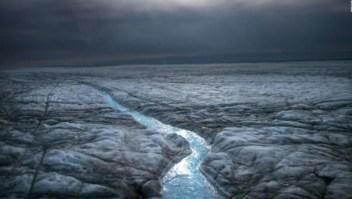 Llueve por primera vez en la cumbre de Groenlandia