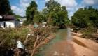 Transmitía en vivo una inundación cuando fue arrastrada
