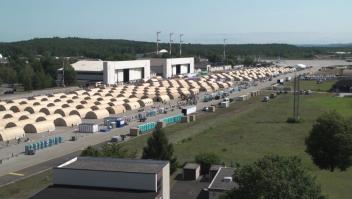 Base aérea alemana es usada como campo de refugiados