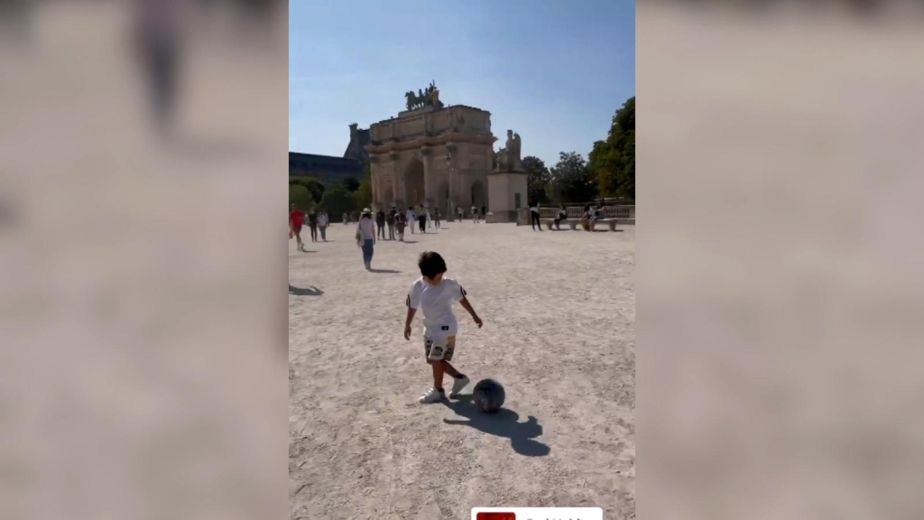 The level of play of Mateo Messi at 5 years of age is surprising