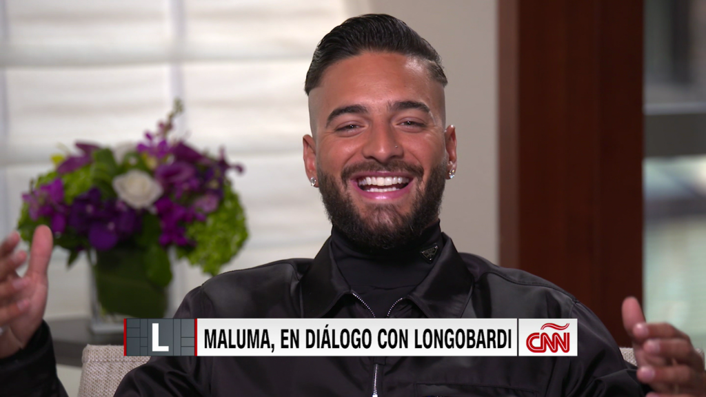 Maluma and the artistic duo with a friend who was not