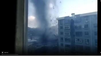 Impactante video de un tornado en China