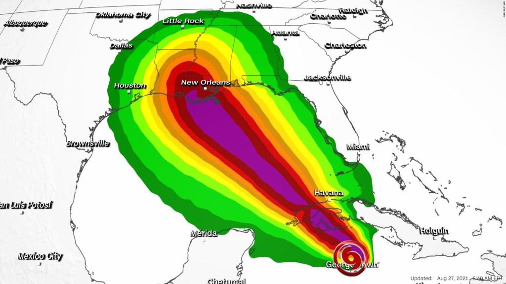 Ida llegaría a Louisiana como huracán categoría 4