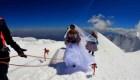 Casamiento en la nieve: mira esta ceremonia alpina