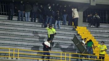 Disturbios en el estadio El Campín de Bogotá