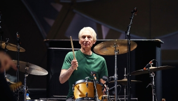 ADELAIDE, AUSTRALIA - OCTOBER 25: Charlie Watts of The Rolling Stones perform live at Adelaide Oval on October 25, 2014 in Adelaide, Australia. (Photo by Morne de Klerk/Getty Images)