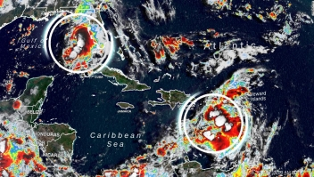 Caribe Tormentas Fred Grace