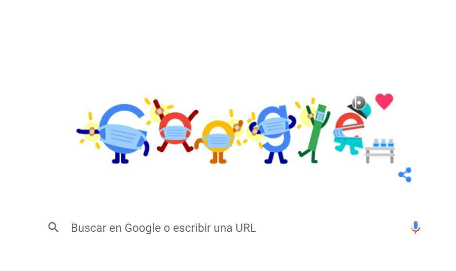 El Doodle de Google que promueve la prevención contra el covid-19