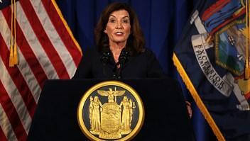 """""""Estoy preparada"""": Vicegobernadora Kathy Hochul habla a Nueva York tras renuncia de Cuomo"""