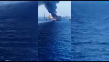 Se incendió otra sonda de Pemex. Hay 5 heridos