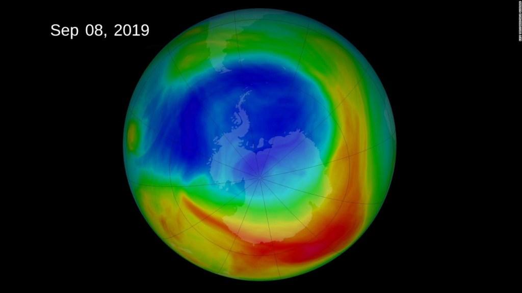 Mira cómo se forma el agujero gigante de la capa de ozono