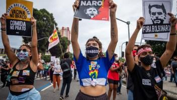 Miles en Brasil protestan contra el presidente Bolsonaro