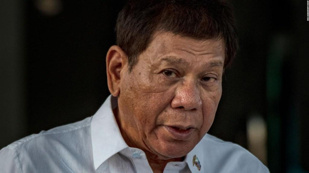 Presidente de Filipinas Duterte va por la vicepresidencia