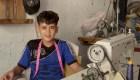 Un sastre palestino de solo 13 años