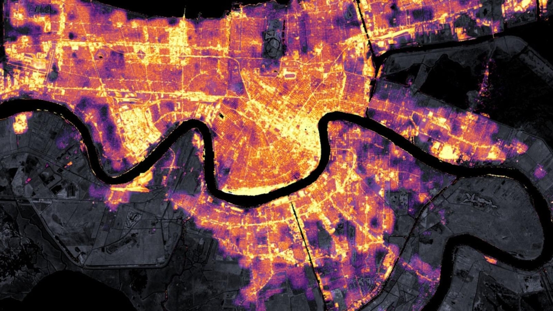 Mira el apagón en Nueva Orleans desde el espacio