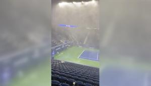 Las impactantes imágenes de inundaciones en el US Open