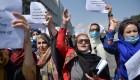 Nueva protesta de mujeres protestan en Afganistán