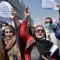 Mujeres afganas protestan en las calles de Kabul