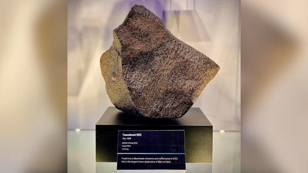 Museo exhibe meteorito más grande proveniente de Marte