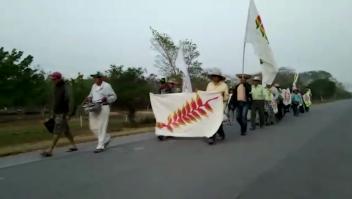 Avanza la marcha indígena en defensa de sus territorios