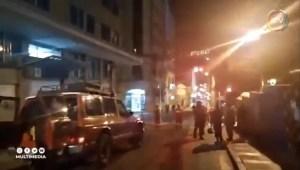 Dos transeúntes heridos por explosión en La Paz
