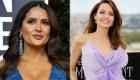Angelina Jolie ensucia con pastel a Salma Hayek