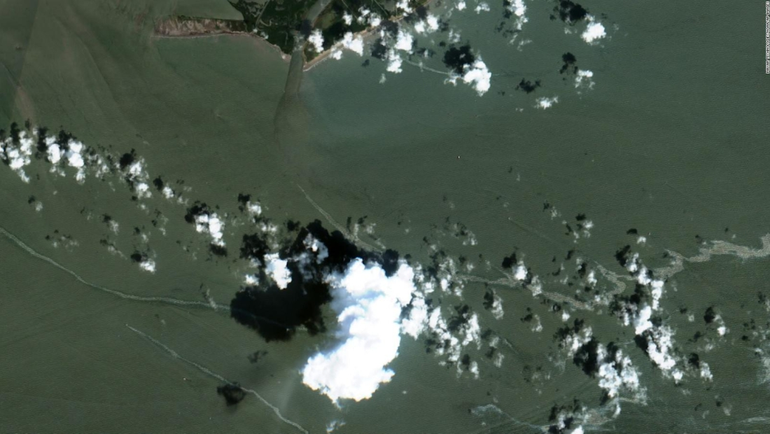 Descubren derrame de crudo en el golfo de México