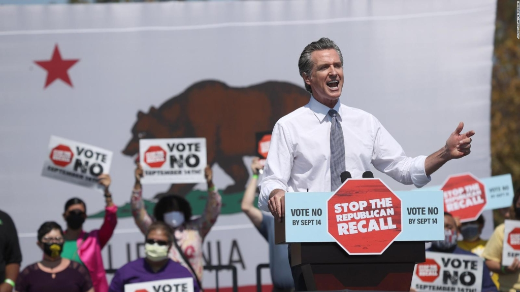 Covid-19 y Trump, en elección revocatoria de California