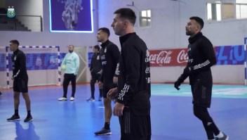 Fútbol sala para Messi y Argentina antes de enfrentar a Bolivia