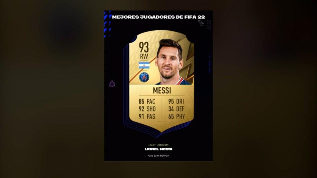 Leo Messi es el mejor jugador del FIFA 22