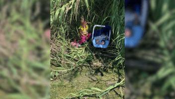 Encuentran un bebé y una niña abandonados en la frontera